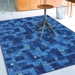 【范登伯格】新世代活潑生動地毯-星辰(藍)-100x150cm