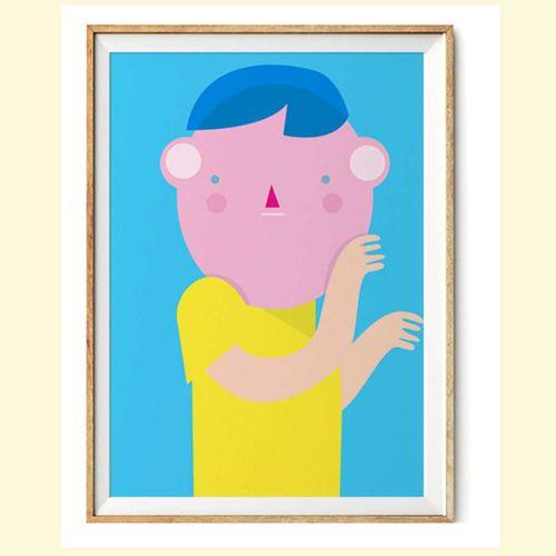【摩達客】西班牙知名插畫家Judy Kaufmann藝術創作海報掛畫裝飾畫-秘密02 (附Judy本人簽名)(含木框)