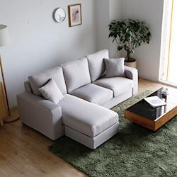 H&D 朵娜亮彩舒柔L型沙發