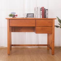 Boden-查理3.5尺實木三抽書桌