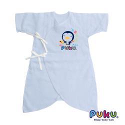 任-PUKU藍色企鵝 紗布蝴蝶裝60cm(水色)