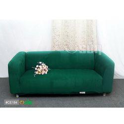 Osun-一體成型防蹣彈性沙發套 厚棉絨溫暖柔順_4人座 墨綠色 CE-184