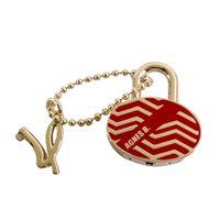 agnes b.圖騰橢圓形鎖頭(紅)