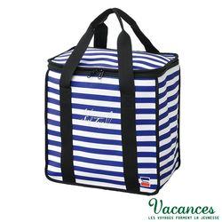 【日本 VACANCES 】戶外郊遊 大容量 海軍藍 保溫保冷野餐袋 / 野餐 露營