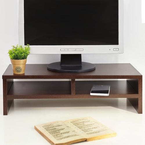 【澄境】高質感低甲醛雙格置物桌上架 螢幕架