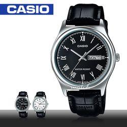 【CASIO 卡西歐】型男必備_皮革錶帶_日期顯示_生活防水_礦物玻璃_男錶(MTP-V006L)