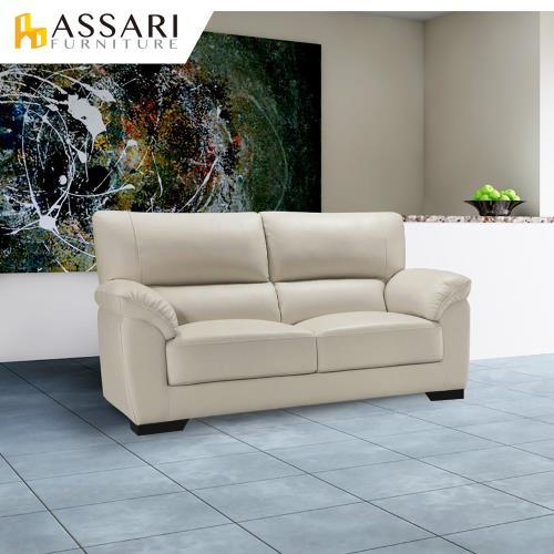 ASSARI-查理斯雙人貓抓皮沙發