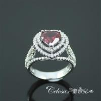 【Celosa珠寶】心的唯一紅寶戒指