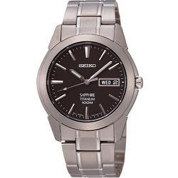 SEIKO鈦金武士時尚腕錶-鐵灰/37mm7N43-0AS0D(SGG731P1)