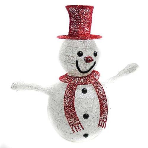 80cm 紅帽大雪人聖誕擺飾
