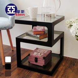 【Amos】幾何元素時尚方形邊桌/茶几