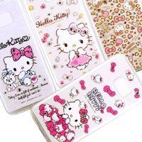 ~Hello Kitty~Samsung Galaxy S7 彩鑽透明保護軟套