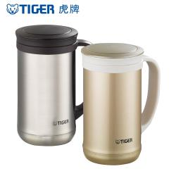 TIGER 虎牌 不鏽鋼真空保溫保冷辦公室杯_茶濾網系列500cc(MCM-T050)