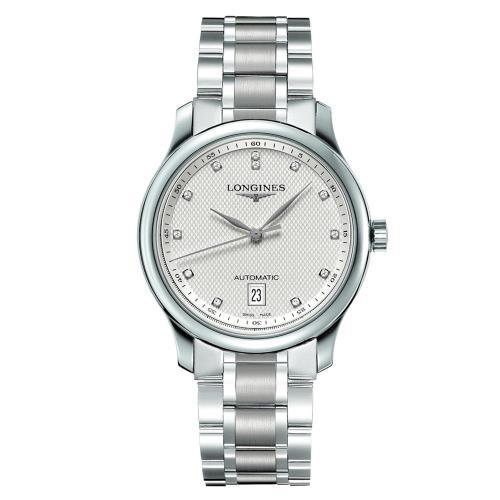 LONGINES浪琴Master巨擘真鑽機械腕錶-銀/39mmL26284776