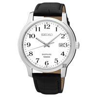 SEIKO精工 CS系列城市戀人皮帶腕錶-白/ 41mm 7N42-0GE0C(SGEH69P1)