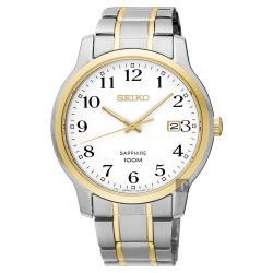 SEIKO精工 CS系列城市戀人腕錶-白x雙色版/41mm 7N42-0GE0G(SGEH68P1)