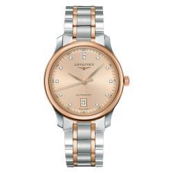 LONGINES浪琴Master巨擘真鑽機械腕錶-玫塊金x雙色/38mmL26285997