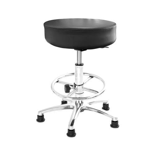 GXG 圓凳款 工作椅 (鋁腳+電金踏圈款) TW-T01 LUK