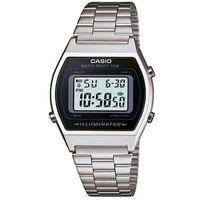 【CASIO】 大錶面簡約酒桶型數位錶-銀 (B-640WD-1A)