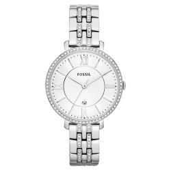 FOSSIL 羅馬風尚仕女晶鑽腕錶-銀/36mm ES3545