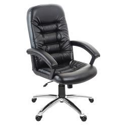 GXG 高背皮面 電腦椅 (鋁合金腳座/防刮輪) TW-1001 LU