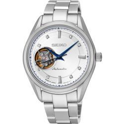 SEIKO 精工  鏤空視窗晶鑽機械腕錶 4R38-00R0S(SSA871J1 )