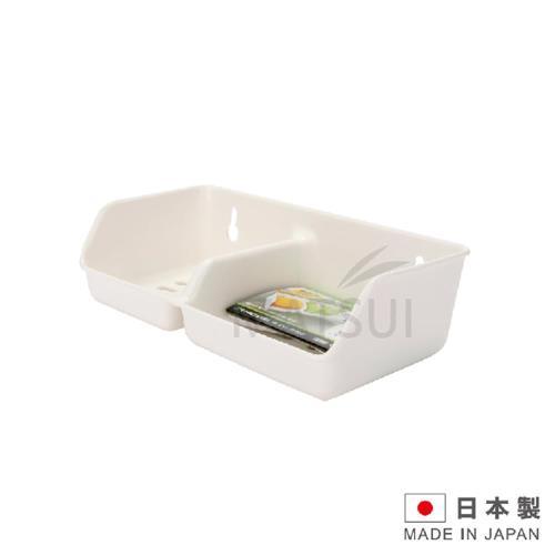 SANADA 日本進口雙格吸盤架(白/綠 顏色隨機) SAN-D530